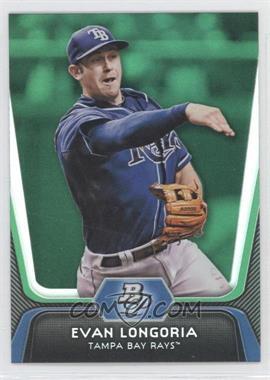 2012 Bowman Platinum Green #54 - Evan Longoria