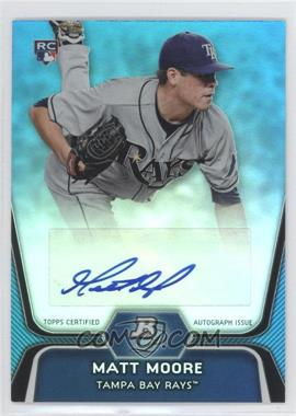 2012 Bowman Platinum National Convention Wrapper Redemption [Base] Platinum Blue Autographs [Autographed] #99 - Matt Moore /5
