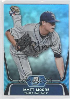 2012 Bowman Platinum National Convention Wrapper Redemption [Base] Platinum Blue #99 - Matt Moore /499