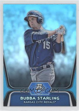 2012 Bowman Platinum National Convention Wrapper Redemption Prospects Platinum Blue #BPP100 - Bubba Starling /499