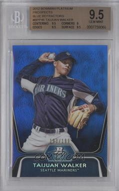 2012 Bowman Platinum Prospects Blue Refractor #BPP46 - Taijuan Walker /199 [BGS9.5]