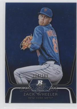 2012 Bowman Platinum Prospects Blue Refractor #BPP48 - Zack Wheeler /199