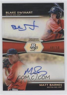 2012 Bowman Platinum Prospects Dual Autographs [Autographed] #DA-BS - Blake Swihart, Matt Barnes /50