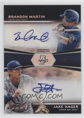 2012 Bowman Platinum Prospects Dual Autographs [Autographed] #DA-HM - Brandon Martin, Jake Hager /50