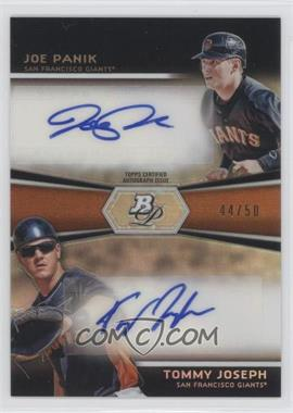 2012 Bowman Platinum Prospects Dual Autographs [Autographed] #DA-JP - Joe Panik, Tommy Joseph /50
