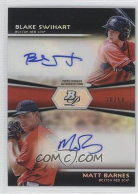 2012 Bowman Platinum Prospects Dual Autographs #DA-BS - Blake Swihart, Matt Barnes /50