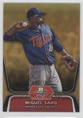 2012 Bowman Platinum Prospects Gold Refractor #BPP39 - Miguel Sano /50