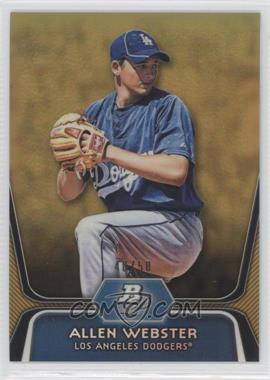 2012 Bowman Platinum Prospects Gold Refractor #BPP47 - Allen Webster /50