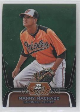 2012 Bowman Platinum Prospects Green Refractor #BPP23 - Manny Machado /399