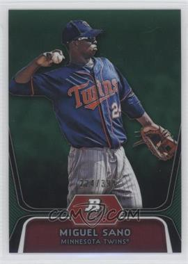2012 Bowman Platinum Prospects Green Refractor #BPP39 - Miguel Sano /399