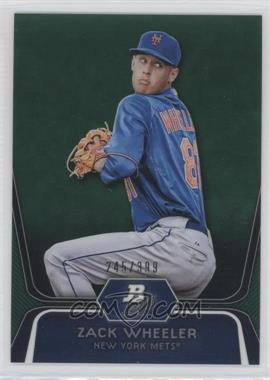 2012 Bowman Platinum Prospects Green Refractor #BPP48 - Zack Wheeler /399