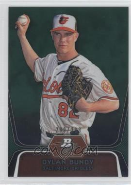 2012 Bowman Platinum Prospects Green Refractor #BPP64 - Dylan Bundy /399