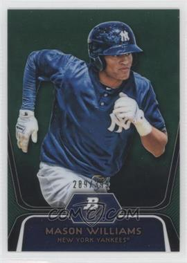 2012 Bowman Platinum Prospects Green Refractor #BPP90 - Mason Williams /399