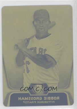 2012 Bowman Platinum Prospects Printing Plate Yellow #BPP14 - Robbie Grossman /1