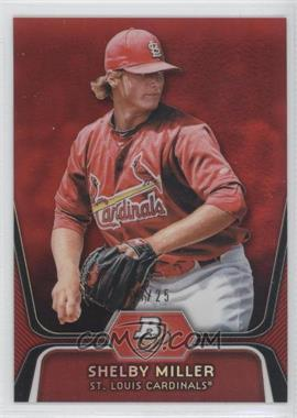2012 Bowman Platinum Prospects Red Refractor #BPP27 - Shelby Miller /25