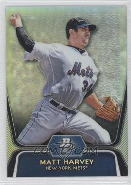 2012 Bowman Platinum Prospects Refractor #BPP18 - Matt Harvey