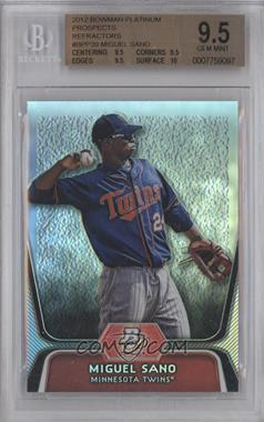 2012 Bowman Platinum Prospects Refractor #BPP39 - Miguel Sano [BGS 9.5]