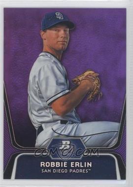 2012 Bowman Platinum Prospects Retail Purple Refractor #BPP11 - Robbie Erlin