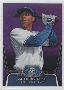 2012 Bowman Platinum Prospects Retail Purple Refractor #BPP13 - Anthony Gose