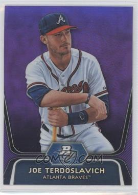 2012 Bowman Platinum Prospects Retail Purple Refractor #BPP17 - Joey Terdoslavich