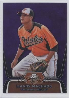 2012 Bowman Platinum Prospects Retail Purple Refractor #BPP23 - Manny Machado