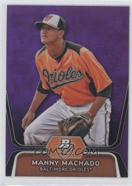 2012 Bowman Platinum Prospects Retail Purple Refractor #BPP23 - Manny Machado
