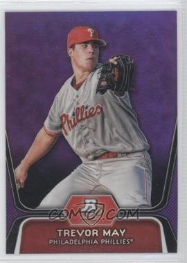 2012 Bowman Platinum Prospects Retail Purple Refractor #BPP25 - Trevor May