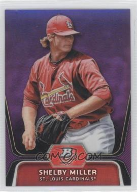 2012 Bowman Platinum Prospects Retail Purple Refractor #BPP27 - Shelby Miller