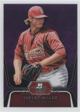 2012 Bowman Platinum Prospects Retail Purple Refractor #BPP27 - Shelby Miller