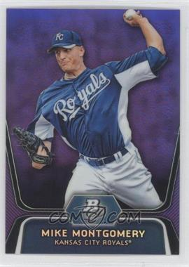 2012 Bowman Platinum Prospects Retail Purple Refractor #BPP28 - Mike Montgomery