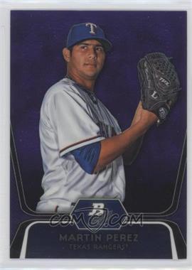 2012 Bowman Platinum Prospects Retail Purple Refractor #BPP34 - Martin Perez