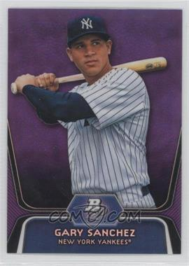 2012 Bowman Platinum Prospects Retail Purple Refractor #BPP38 - Gary Sanchez
