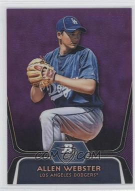2012 Bowman Platinum Prospects Retail Purple Refractor #BPP47 - Allen Webster