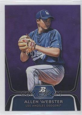 2012 Bowman Platinum Prospects Retail Purple Refractor #BPP47 - Allen Webster