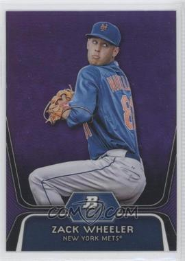2012 Bowman Platinum Prospects Retail Purple Refractor #BPP48 - Zack Wheeler
