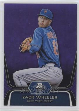 2012 Bowman Platinum Prospects Retail Purple Refractor #BPP48 - Zack Wheeler