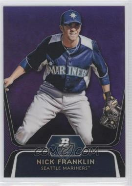 2012 Bowman Platinum Prospects Retail Purple Refractor #BPP54 - Nick Franklin