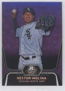 2012 Bowman Platinum Prospects Retail Purple Refractor #BPP55 - Nestor Molina