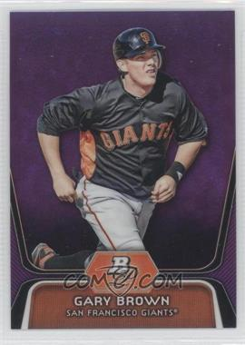 2012 Bowman Platinum Prospects Retail Purple Refractor #BPP6 - Gary Brown