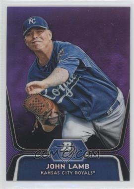 2012 Bowman Platinum Prospects Retail Purple Refractor #BPP63 - John Lamb