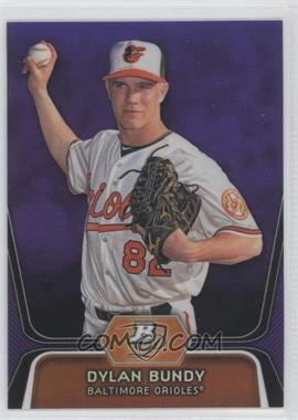 2012 Bowman Platinum Prospects Retail Purple Refractor #BPP64 - Dylan Bundy