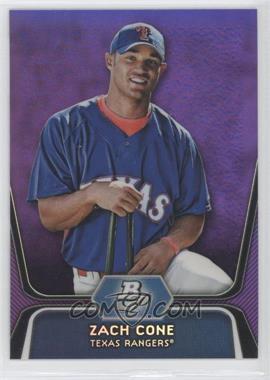 2012 Bowman Platinum Prospects Retail Purple Refractor #BPP71 - Zach Cone