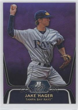 2012 Bowman Platinum Prospects Retail Purple Refractor #BPP74 - Jake Hager