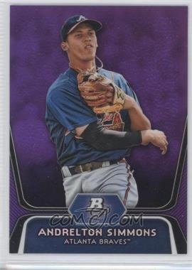 2012 Bowman Platinum Prospects Retail Purple Refractor #BPP76 - Andrelton Simmons