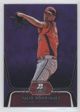 2012 Bowman Platinum Prospects Retail Purple Refractor #BPP77 - Julio Rodriguez