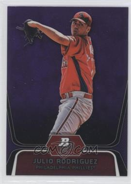 2012 Bowman Platinum Prospects Retail Purple Refractor #BPP77 - Julio Rodriguez