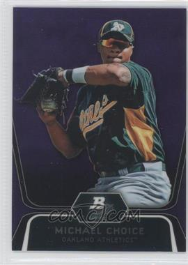 2012 Bowman Platinum Prospects Retail Purple Refractor #BPP8 - Michael Choice