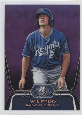2012 Bowman Platinum Prospects Retail Purple Refractor #BPP80 - Wil Myers