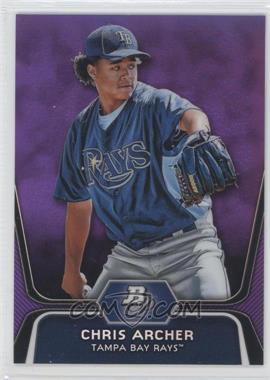 2012 Bowman Platinum Prospects Retail Purple Refractor #BPP82 - Chris Archer