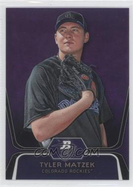 2012 Bowman Platinum Prospects Retail Purple Refractor #BPP84 - Tyler Matzek
